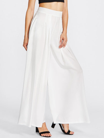Pleated Detail Palazzo Pants - CanalSide Cravings