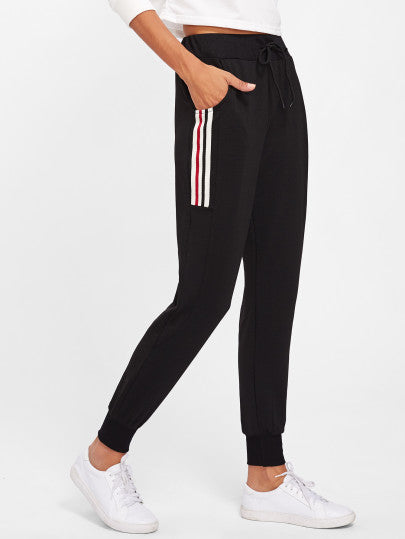 Striped Side Track Pants - CanalSide Cravings