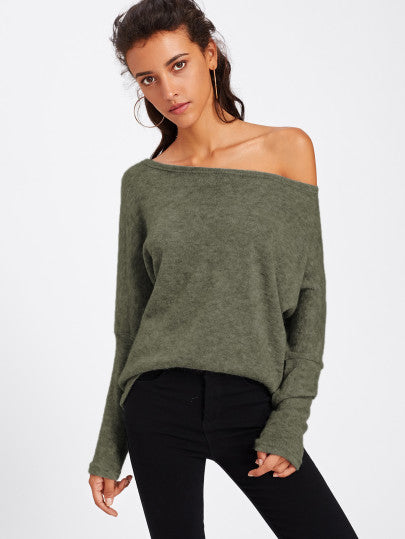 Batwing Sleeve Sweater - CanalSide Cravings