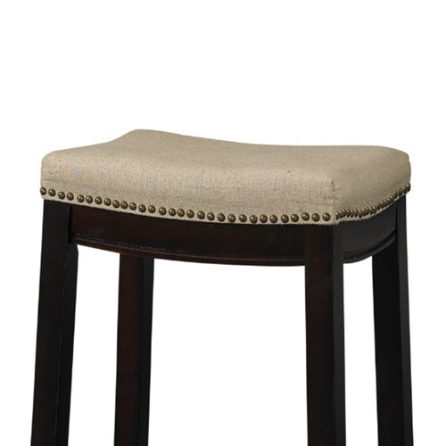 Fabric Upholstered Counter Stool with Nail head - CanalSide Cravings