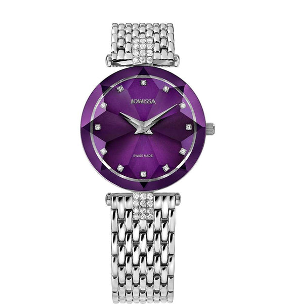 Facet Strass Swiss Ladies Watch J5.702.M - CanalSide Cravings