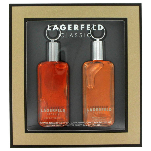 Lagerfeld By Karl Lagerfeld Gift Set -- 2 Oz Eau De Toilette Spray + 2 Oz After Shave