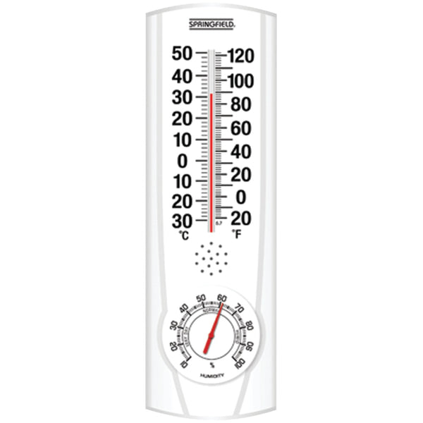 Springfield Plainview I And O Thermometer & Hygrometer