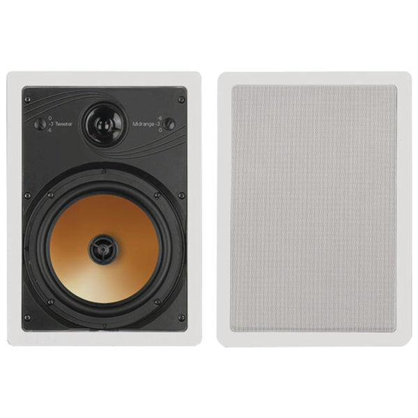 "Bic America 8"" 3-way Acoustech Series In-wall Speakers"