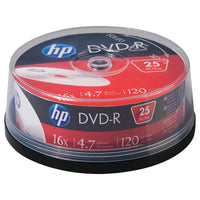 Hp 4.7gb 16x Dvd-rs (25-ct Cake Box Spindle)