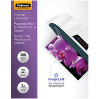 Fellowes Imagelast Laminating Pouches Letter 200pk (3mil)