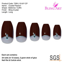 False Nails by Bling Art Red Crystal Polished - CanalSide Cravings