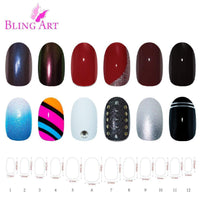 False Nails by Bling Art 360 Oval Medium Natural - CanalSide Cravings
