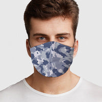 Blue Camo Preventative Face Mask - CanalSide Cravings