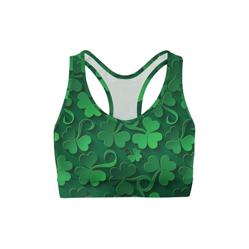 Clovers All Over Sports Bra - CanalSide Cravings