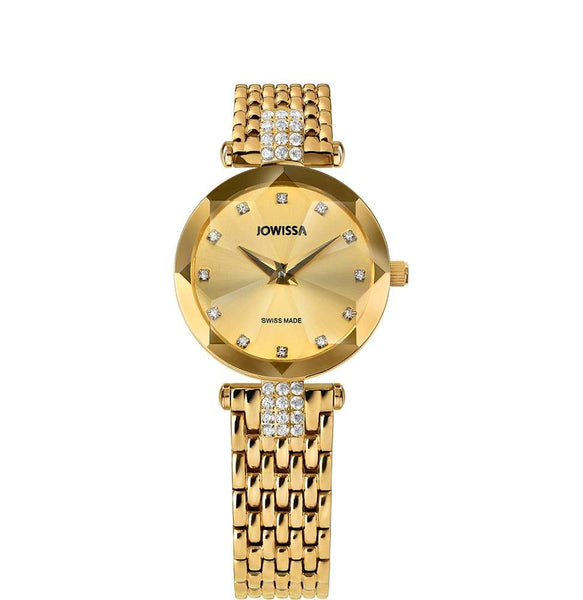 Facet Strass Swiss Ladies Watch J5.629.S - CanalSide Cravings