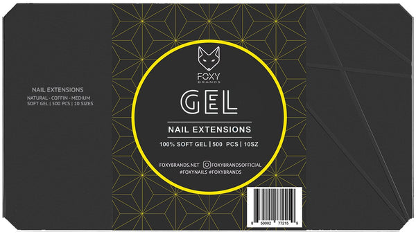 Foxy Gel Tips - Natural Medium Coffin Gel Filled - CanalSide Cravings