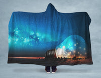 Space Light Bulb Hooded Blanket - CanalSide Cravings