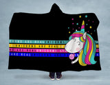 Unicorns are Real Hooded Blanket - CanalSide Cravings
