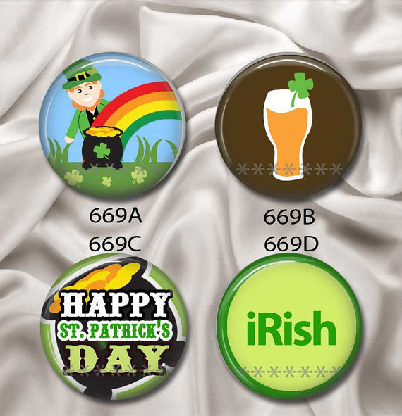 Happy St Patrick's Day - Interchangeable Magnetic - CanalSide Cravings