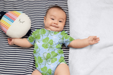 Blue White Clovers Onesie - CanalSide Cravings
