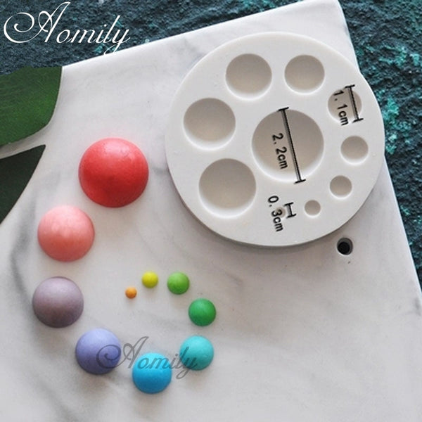 Aomily Sugarcraft Circle Silicone Mold Fondant Mold Cake Decorating Tools - CanalSide Cravings