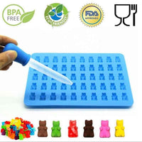 Silicone Forms Silicone Mold Gummy Bear Shape Bear Mold - CanalSide Cravings