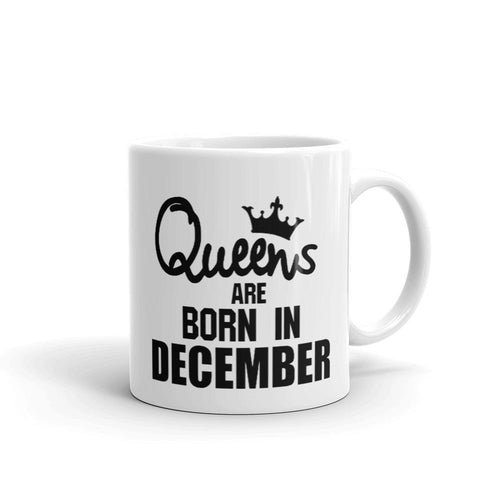 Queens Are Born in December Coffee Mug - CanalSide Cravings