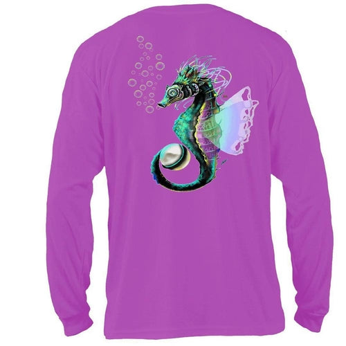 Performance Fishing Shirt 50 UV Seahorse - CanalSide Cravings
