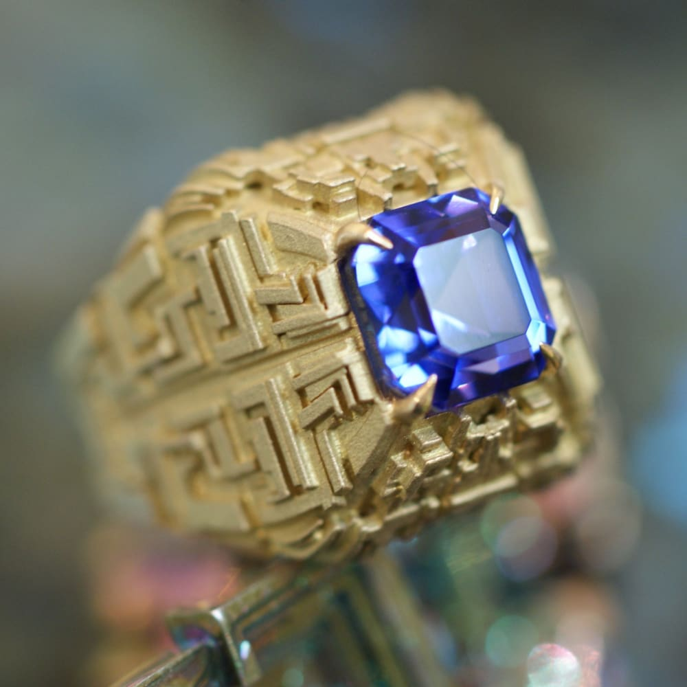 Mayan Matrix Talisman Ring - 5 - Golconda Jewelry
