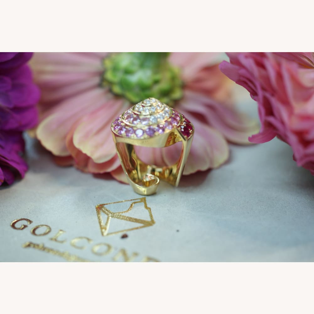 The Marguerite Promise Ring - Golconda Jewelry