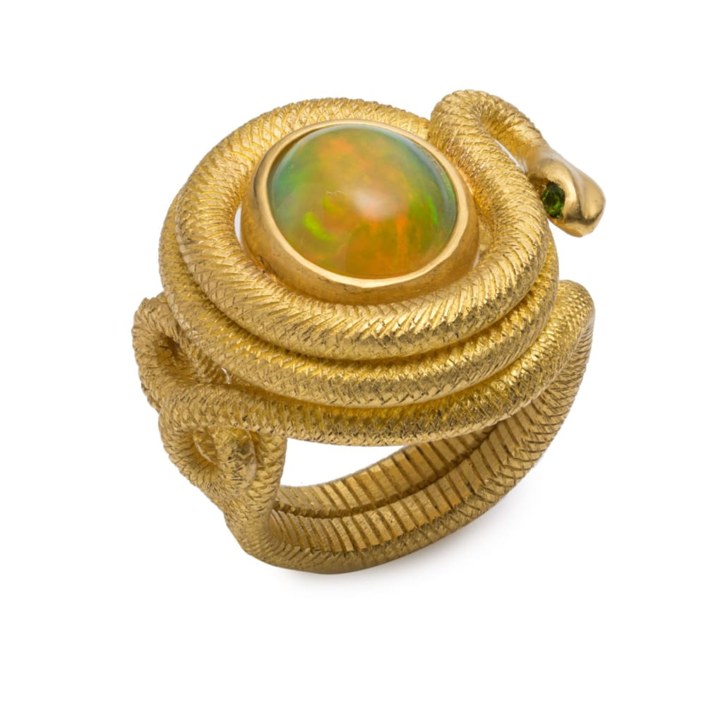 Wadjet Amulet Ring - 6.75 - Golconda Jewelry