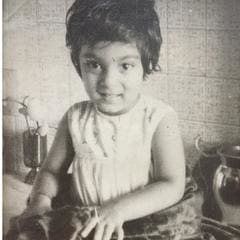 a vintage photo of a girl