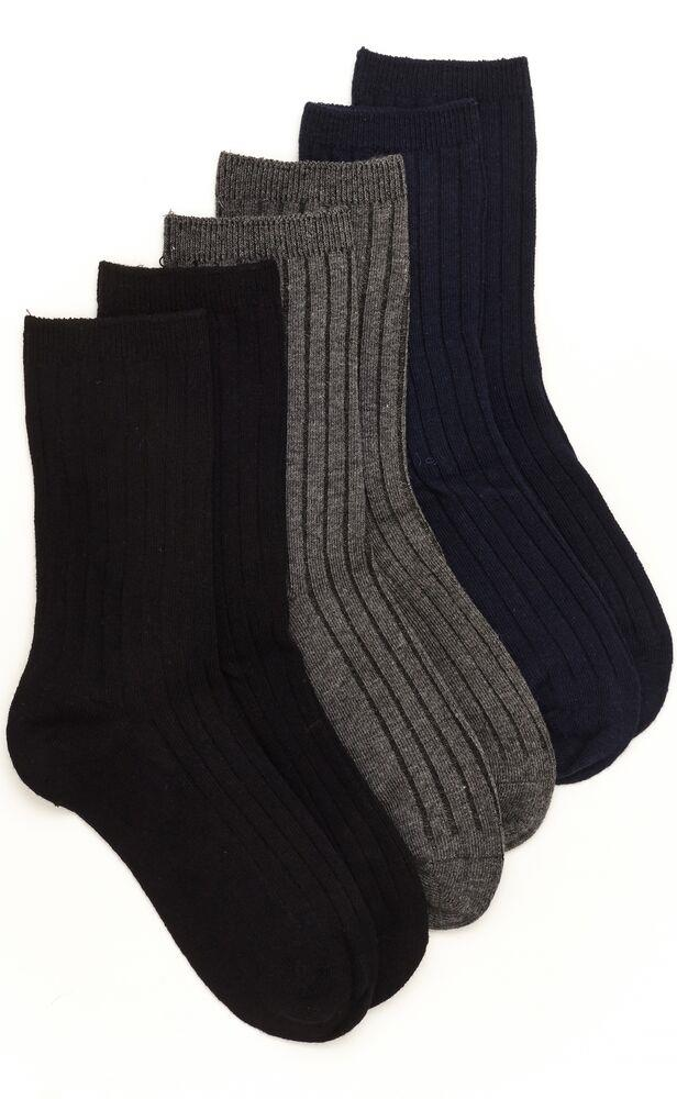 Stride Rite 3pk Neutral Socks