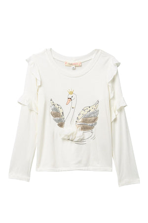 Baby Sara Swan Long Sleeve Top