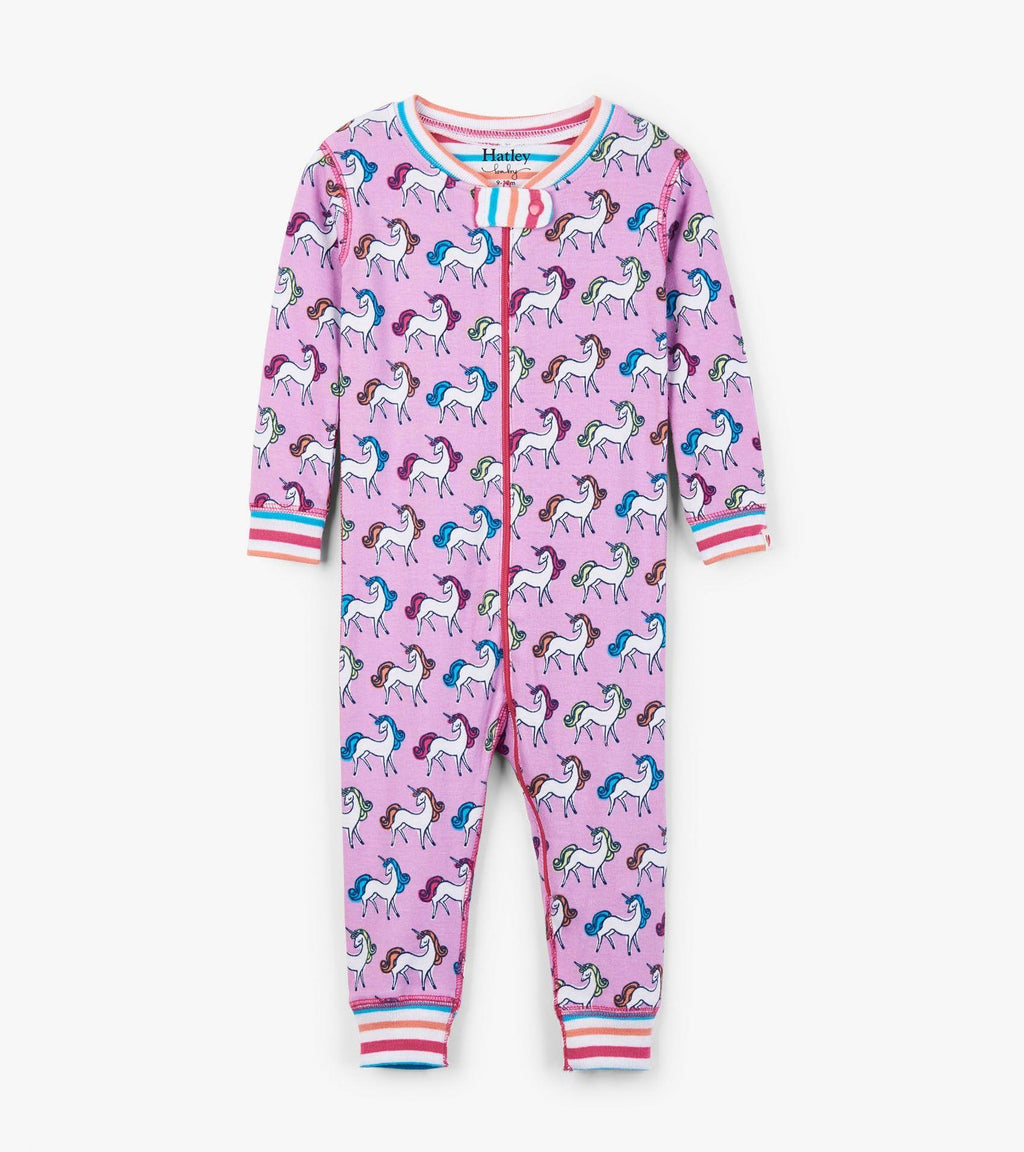 Hatley Coverall Zip Unicorn Sleeper