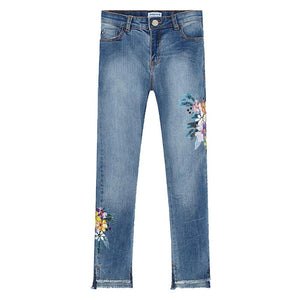Mayoral Flower Print Jeans 6503