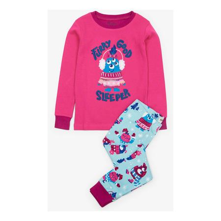 Hatley Long Sleeve & Pant Furry Good Sleeper PJ Set