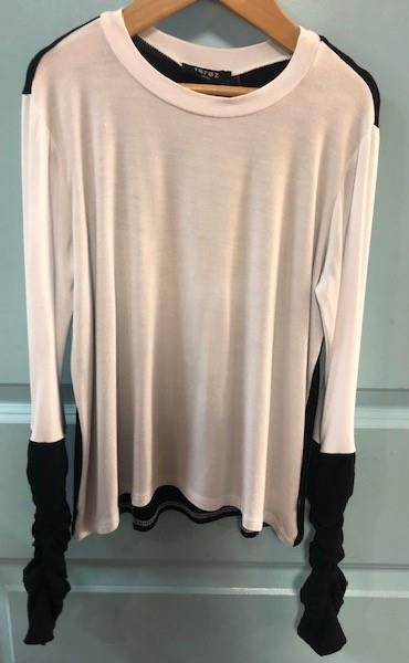 Terez High Low Long Sleeve Top