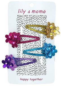 Lily & Momo 4pk Flower Hair Clips