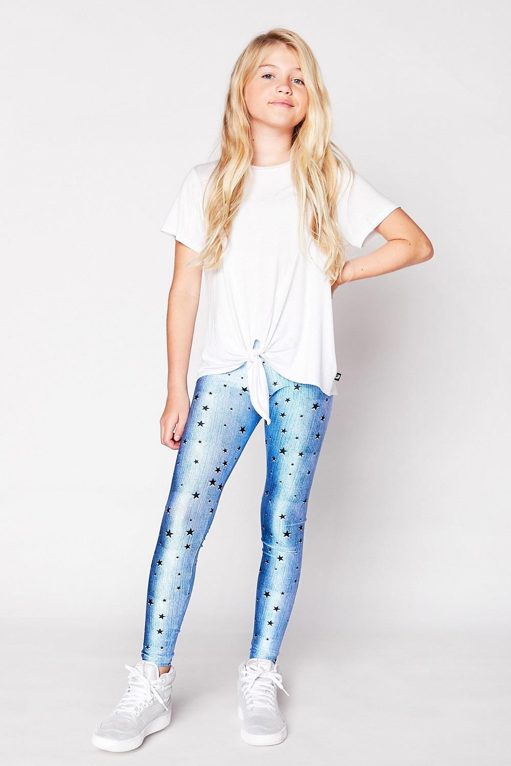 Terez Denim Stars Leggings