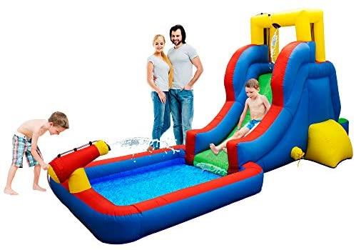 PicassoTiles Water Slide Park Bouncing Playhouse