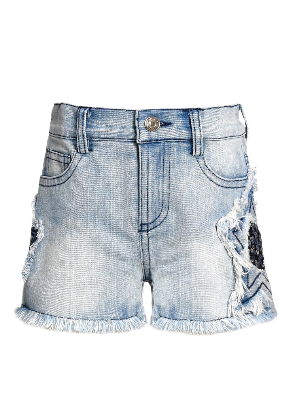 Baby Sara Star Denim Shorts