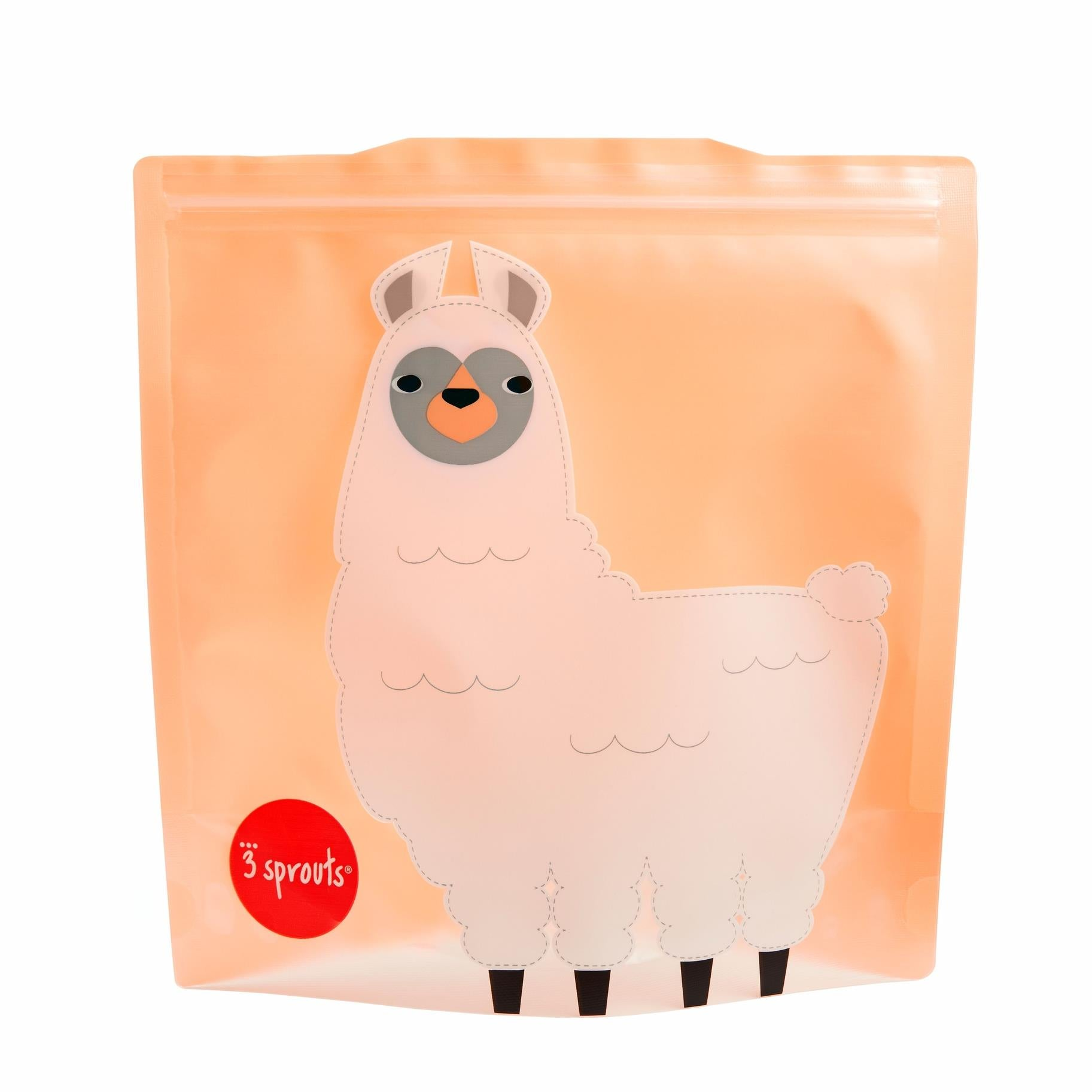 3 Sprouts Llama Sandwich Bags (2 Pack)