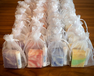 Soap and Lip Balm Favor for Wedding, Party or Gift