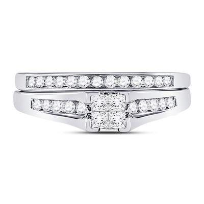 10k White Gold Diamond Princess Engagement Rind Set 1/2CTTW
