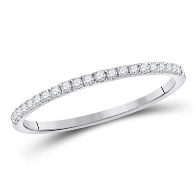 1/6 CTTW Diamond 10k White Gold Wedding Band