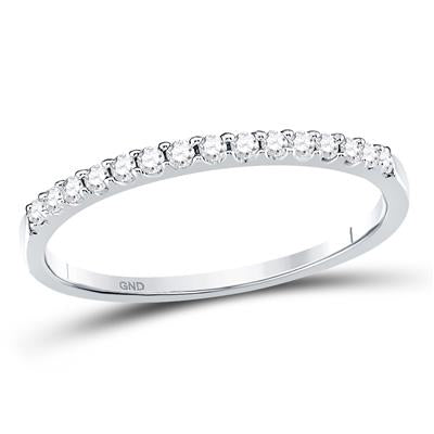 1/6 CTTW Diamond 14k White Gold Wedding Band