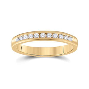 1/4 CTTW Diamond 14K Yellow Gold Wedding Band