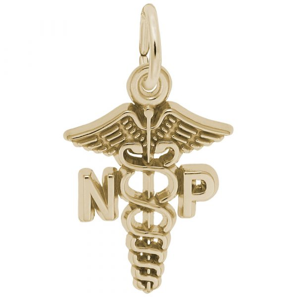 Nurse Practitioner Caduceus Charm