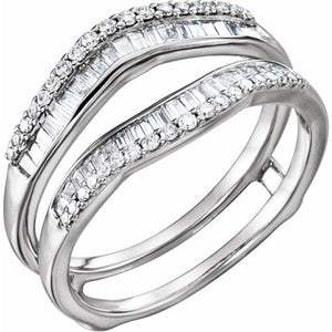 1/2 CTTW Diamond Ring Guard Enhancer