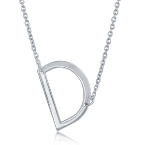 Sterling Silver Sideways Initial Necklaces