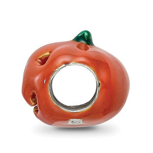 Sterling Silver Reflections Enameled Jack-O-Lantern Bead
