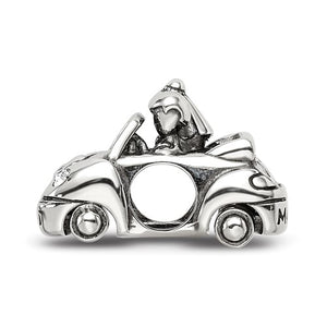 Sterling Silver Reflections Crystals From Swarovski Just Married Car Bead