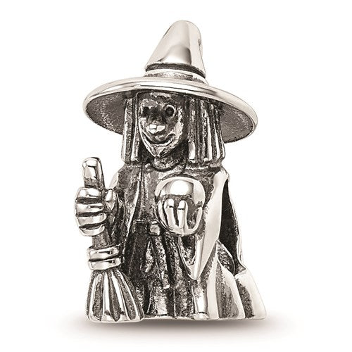 Sterling Silver Reflections Witch Bead